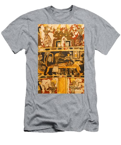 Egyptian Wall Art Men's T-Shirt (Athletic Fit)
