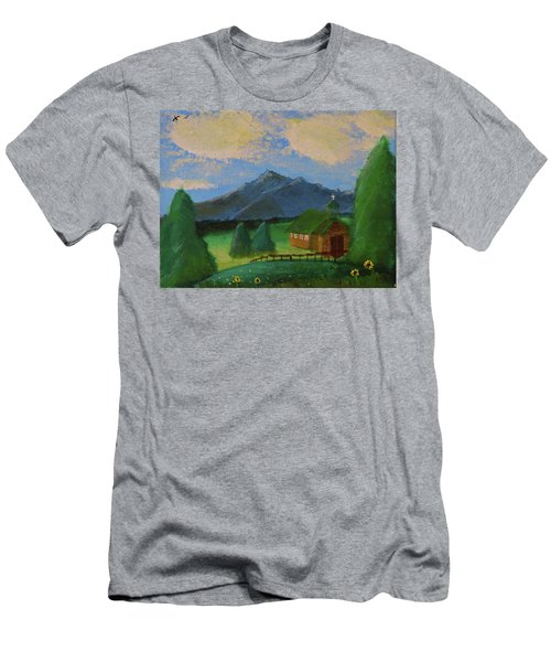 Esterbrook Chapel, Wyoming Men's T-Shirt (Athletic Fit)