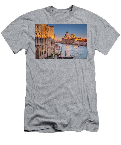 Men's T-Shirt (Athletic Fit) featuring the photograph Evening Light In Venice by Susan Leonard