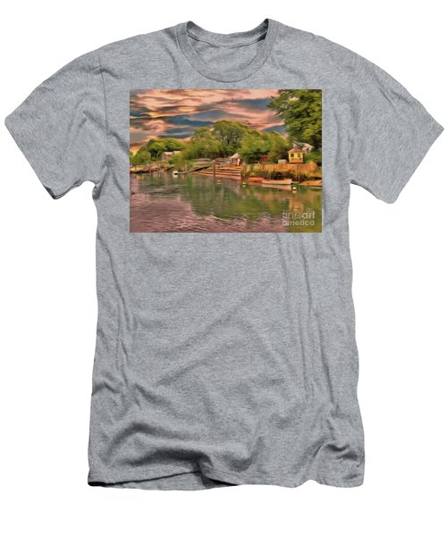 Men's T-Shirt (Athletic Fit) featuring the photograph Everything That I Love About The River by Leigh Kemp