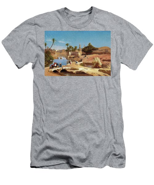 Faiyum Landscape - Digital Remastered Edition Men's T-Shirt (Athletic Fit)