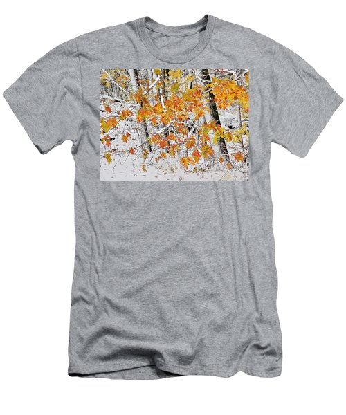 Fall And Snow Men's T-Shirt (Athletic Fit)