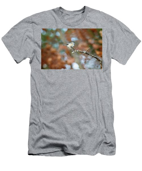 Men's T-Shirt (Athletic Fit) featuring the photograph Fall Chickadee by Sue Collura