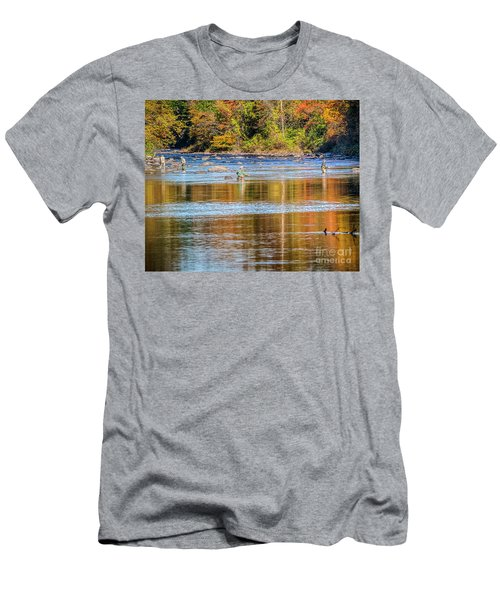 Fall Fishing Reflections Men's T-Shirt (Athletic Fit)