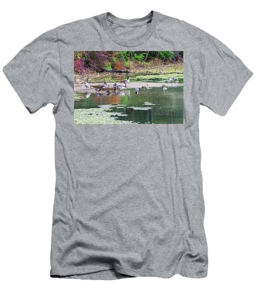 Men's T-Shirt (Athletic Fit) featuring the photograph Fall Gathering by Edward Peterson