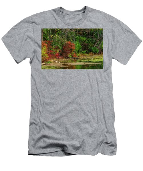 Men's T-Shirt (Athletic Fit) featuring the photograph Fall In Full Bloom by Edward Peterson