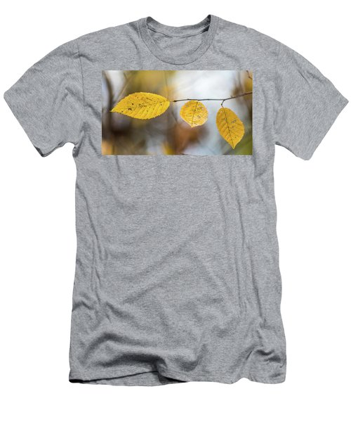 Men's T-Shirt (Athletic Fit) featuring the photograph Fall In Triplicate by Michael Arend