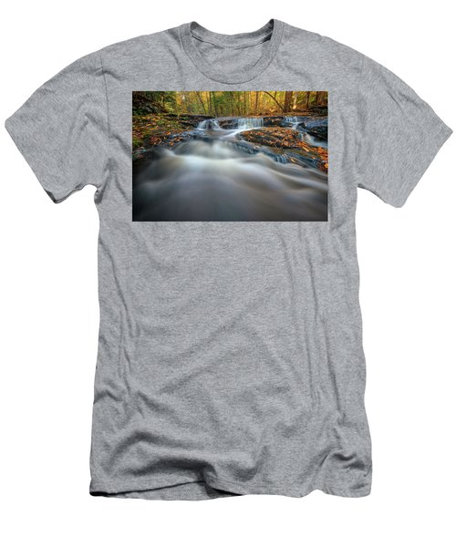 Men's T-Shirt (Athletic Fit) featuring the photograph Fall Morning At Vaughan Brook. by Rick Berk