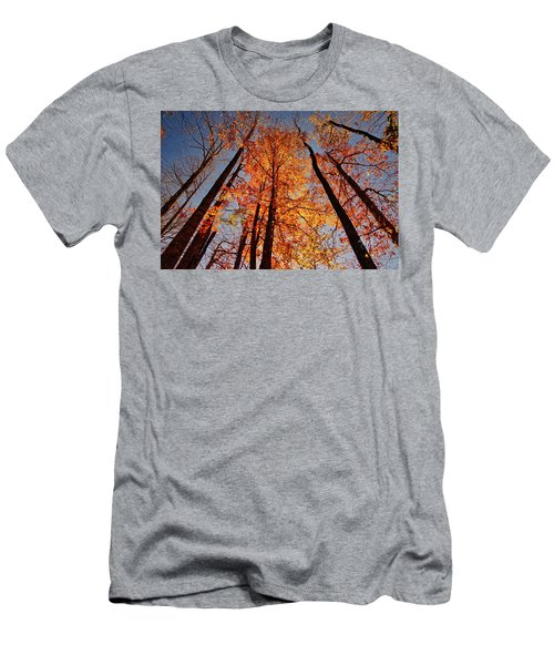 Fall Trees Sky Men's T-Shirt (Athletic Fit)
