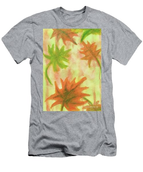 Fanciful Fall Leaves Men's T-Shirt (Athletic Fit)