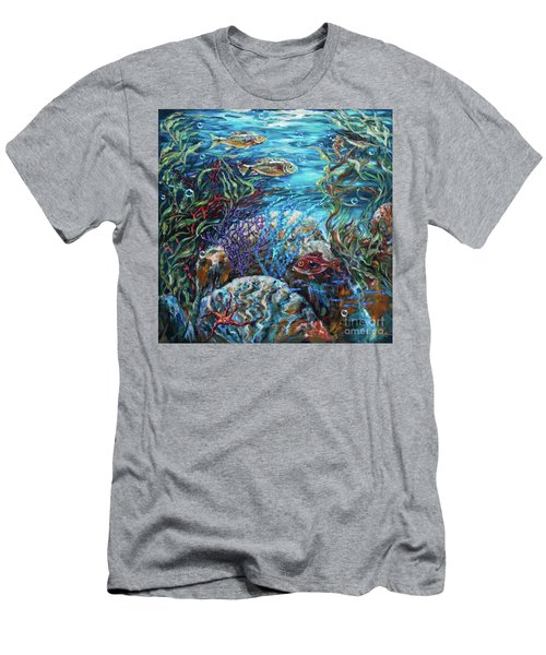 Festive Reef Men's T-Shirt (Athletic Fit)