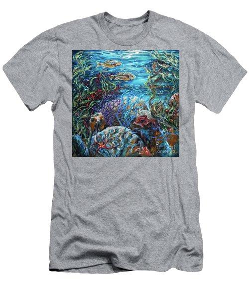 Festive Reef Men's T-Shirt (Athletic Fit)