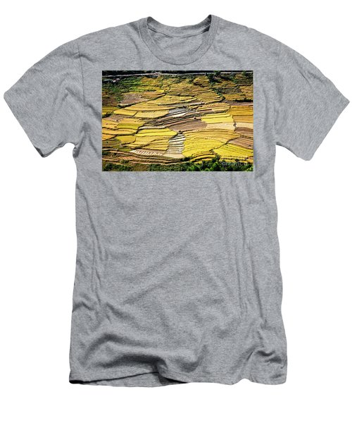 Men's T-Shirt (Athletic Fit) featuring the photograph Fields Of Rice by Scott Kemper