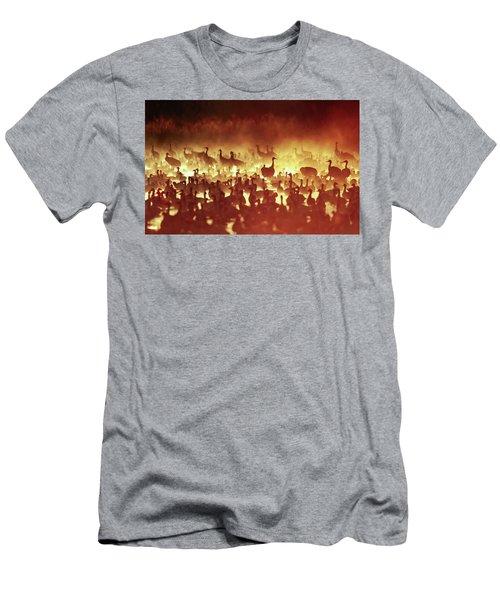 Fire Mist Sans Flight Men's T-Shirt (Athletic Fit)