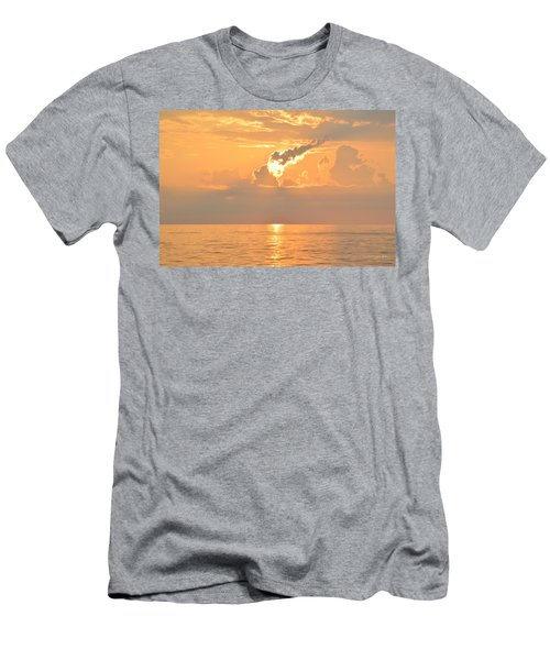 Men's T-Shirt (Athletic Fit) featuring the photograph Fireball   by Barbara Ann Bell