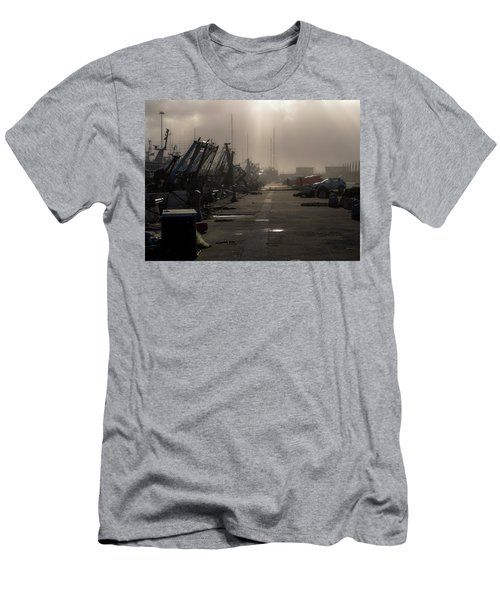 Fishing Boats Moored In The Harbor Men's T-Shirt (Athletic Fit)
