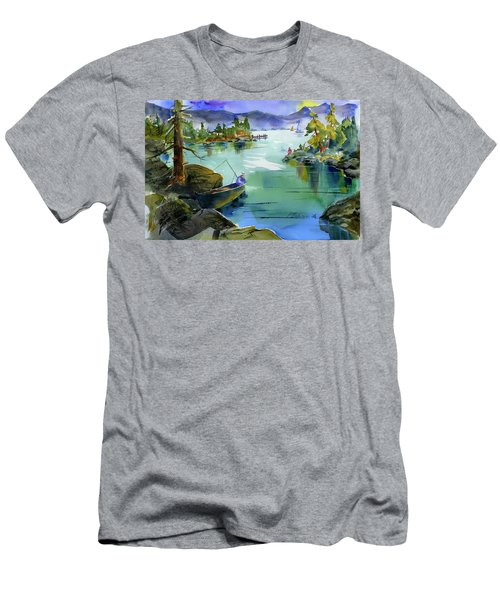 Fishing Lake Tahoe Men's T-Shirt (Athletic Fit)