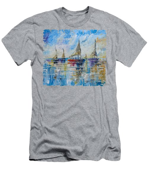 Five Boats Men's T-Shirt (Athletic Fit)