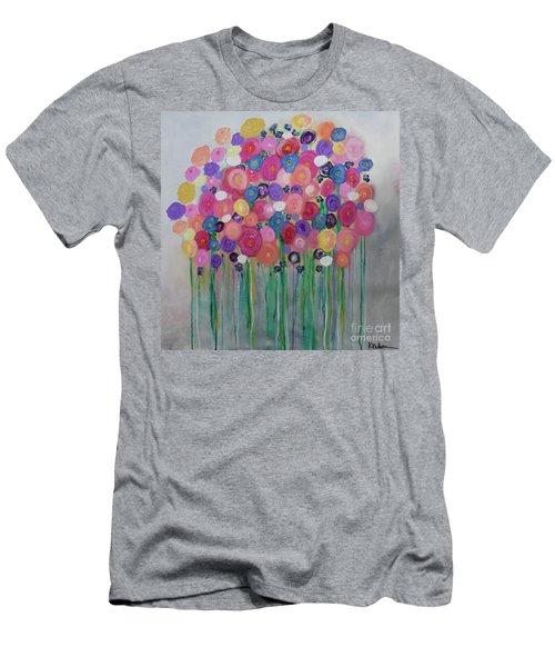 Floral Balloon Bouquet Men's T-Shirt (Athletic Fit)