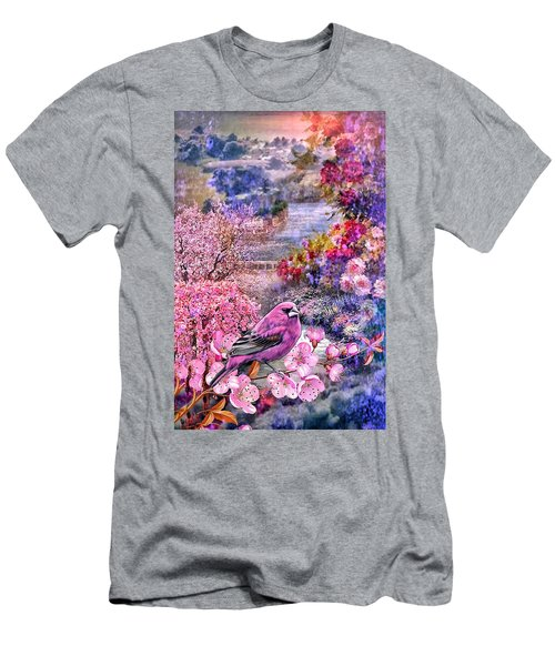 Floral Embedded Men's T-Shirt (Athletic Fit)