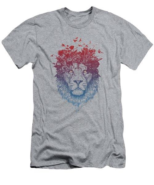 Floral Lion IIi Men's T-Shirt (Athletic Fit)