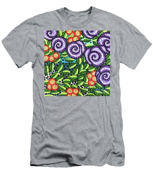 Floral Whimsy 11 Men's T-Shirt (Athletic Fit)