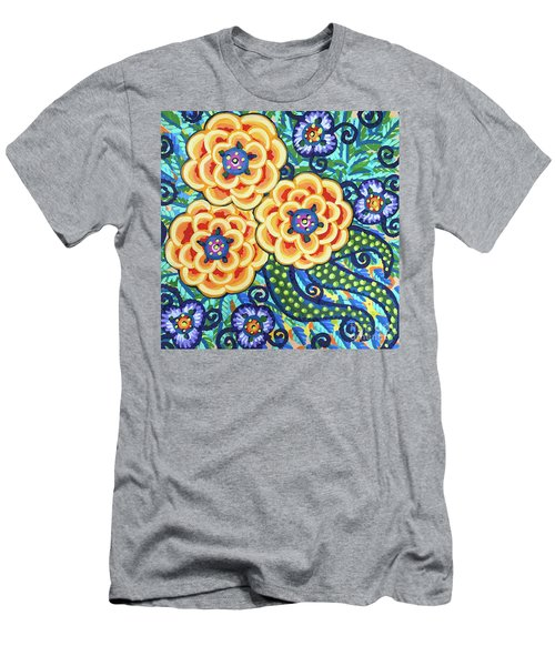 Floral Whimsy 9 Men's T-Shirt (Athletic Fit)