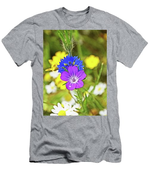 Flowers In The Meadow. Men's T-Shirt (Athletic Fit)