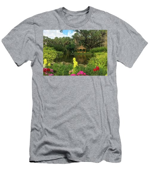 Flowers To Gazebo By The Lake Men's T-Shirt (Athletic Fit)