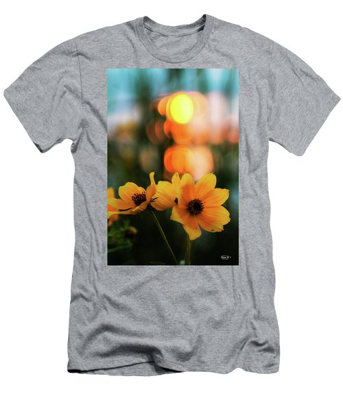 Flowery Bokeh Sunset Men's T-Shirt (Athletic Fit)