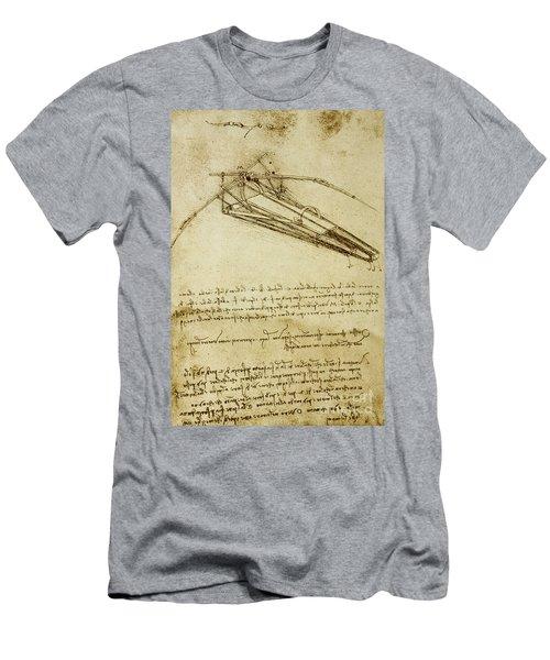 Flying Machine, Codex Atlanticus By Leonardo Da Vinci Men's T-Shirt (Athletic Fit)