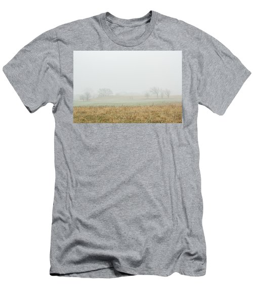 Foggy Country Morning Men's T-Shirt (Athletic Fit)