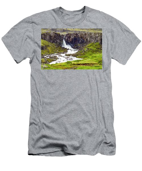 Men's T-Shirt (Athletic Fit) featuring the photograph Folaldafoss by Marla Craven