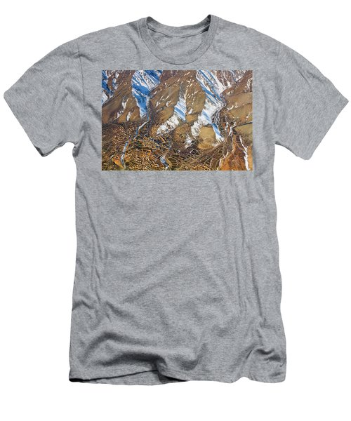 Men's T-Shirt (Athletic Fit) featuring the photograph Foothill Settlements by SR Green