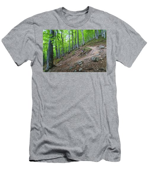 Forest On Balkan Mountain, Bulgaria Men's T-Shirt (Athletic Fit)