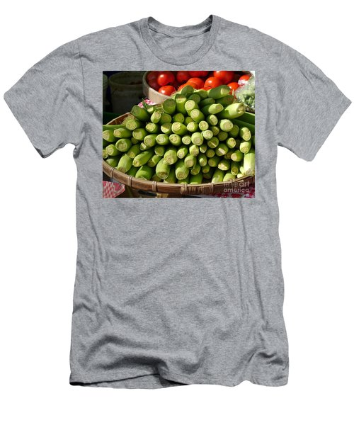 Men's T-Shirt (Athletic Fit) featuring the photograph Fresh Baby Corn And Ripe Tomatoes by Yali Shi