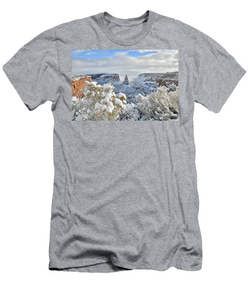 Fresh Snow At Independence Canyon Men's T-Shirt (Athletic Fit)