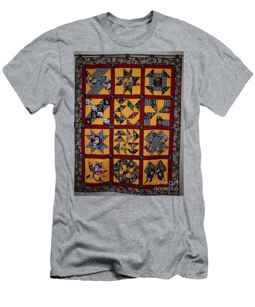 Men's T-Shirt (Athletic Fit) featuring the tapestry - textile Frida Quilt by Cynthia Marcopulos