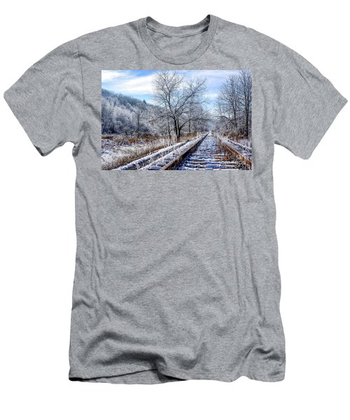 Frosty Morning On The Railroad Men's T-Shirt (Athletic Fit)