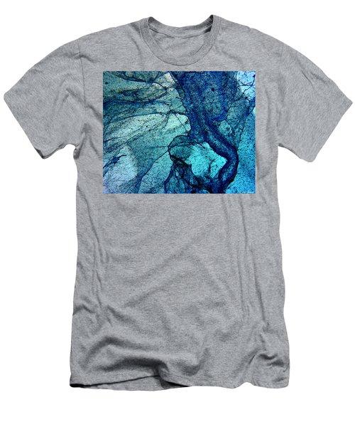 Frozen In Blue Men's T-Shirt (Athletic Fit)
