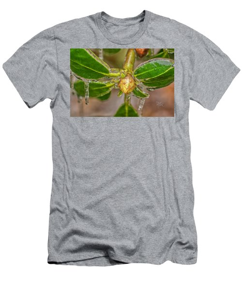 Men's T-Shirt (Athletic Fit) featuring the photograph Frozen Leaves by Meta Gatschenberger