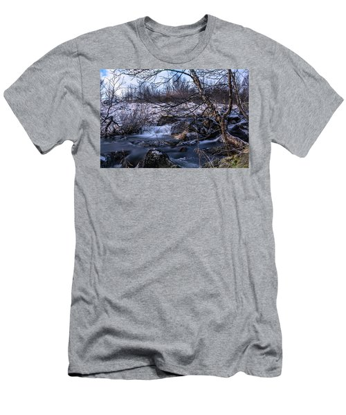 Frozen Tree In Winter River Men's T-Shirt (Athletic Fit)