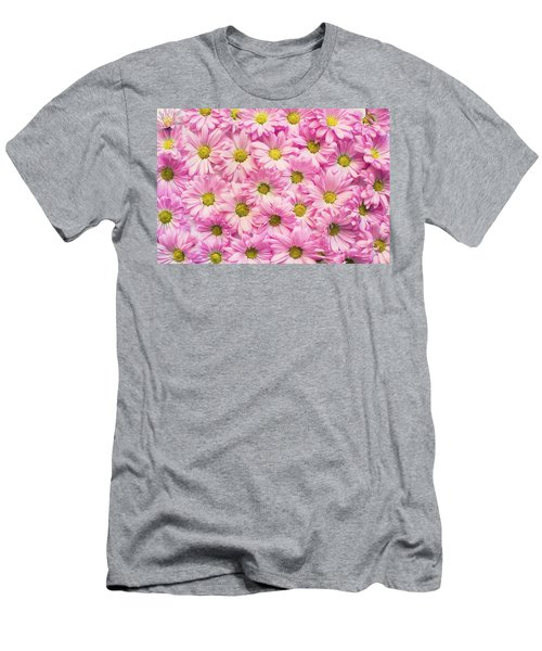 Full Of Pink Flowers Men's T-Shirt (Athletic Fit)