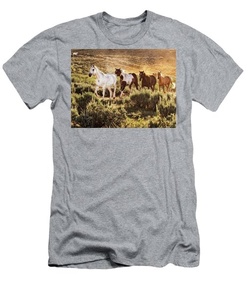 Galloping Down The Mountain Men's T-Shirt (Athletic Fit)