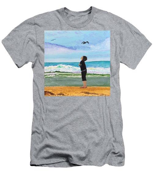 Gazing At Gulls Men's T-Shirt (Athletic Fit)
