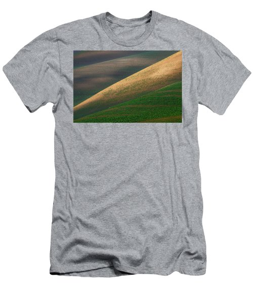 Geometric Field Abstract Men's T-Shirt (Athletic Fit)