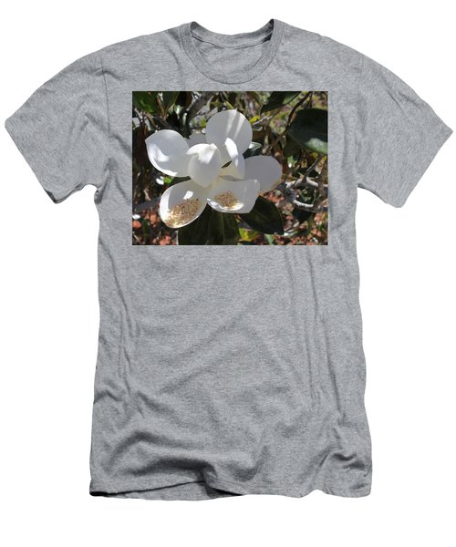 Gigantic White Magnolia Blossoms Blowing In The Wind Men's T-Shirt (Athletic Fit)