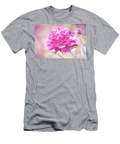 Glorious Pink Peony Men's T-Shirt (Athletic Fit)