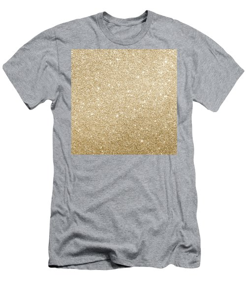 Gold Glitter Men's T-Shirt (Athletic Fit)
