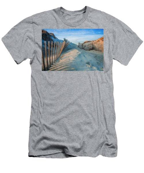 Golden Glow Dunes Men's T-Shirt (Athletic Fit)